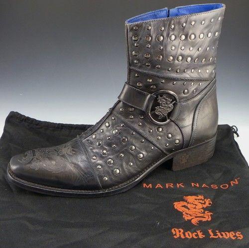 MARK NASON 67634 SMITHWICK BOOTS MENS 10 5 BLACK US 10 5 UK 10 EU 43 44 475