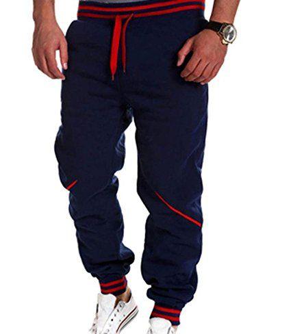 jeansian Estate Tendenze Moda Uomo Sport Casuale Pantaloni Della Tuta Harem Pants S379 Navy M