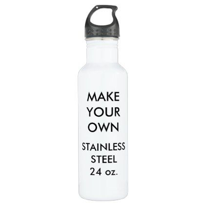 Custom Personalized White Steel Water Bottle Create Your Own Cyo