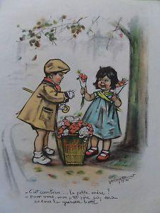 Gravure Germaine Bouret c'est combien ...la petite mere ? Pour vous mon petit 37 in Art, antiquités, Art du XXème, contemporain, Estampes, gravures   eBay