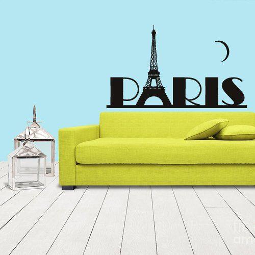 Wall Vinyl Sticker Decals Decor Art Design Mural Eiffel Tower Decal Paris France Words Quote Sign Paris (Z1078) StickersForLife http://www.amazon.com/dp/B00DSK9CEO/ref=cm_sw_r_pi_dp_wwPevb0Z3AHAF