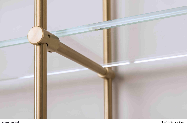 Collector S Shelving System Kitchen Glass Shelf Detail Glass Shelves Glass Shelves Kitchen Glass Shelf Brackets