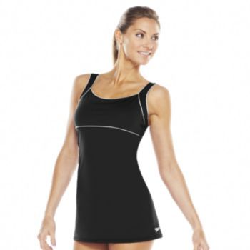 ac8d9a1439f Speedo Endurance+ Piped Swimdress - Women's | swimsuits | Athletic ...