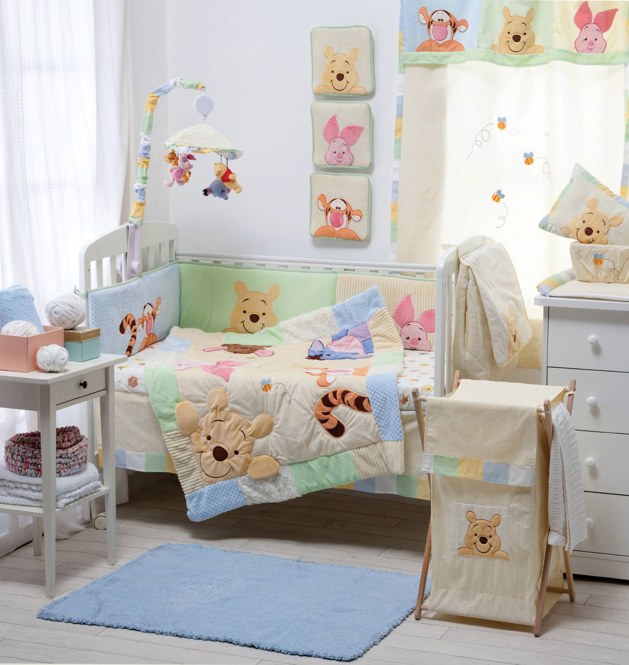 Gray And Yellow Elephant Crib Bedding Collection Crib