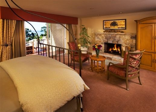 Stone Fireplace In Guest Room At Tickle Pink Inn A Bed And