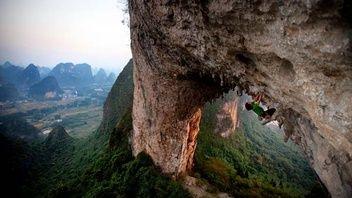 Rock Climbing In Yangshuo I Can Always Dream Right Rock Climbing Yangshuo Climbing