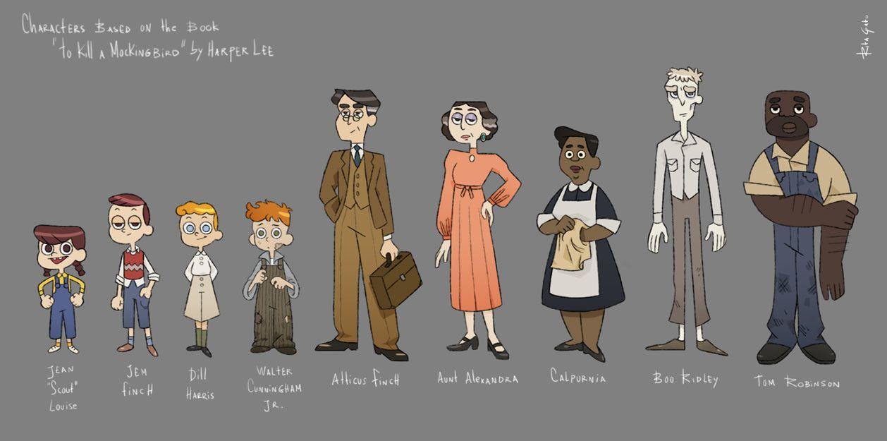 Artstation To Kill A Mockingbird Rita Gato Character Design Classic Literature Characters Analysi Essay Scout Atticu