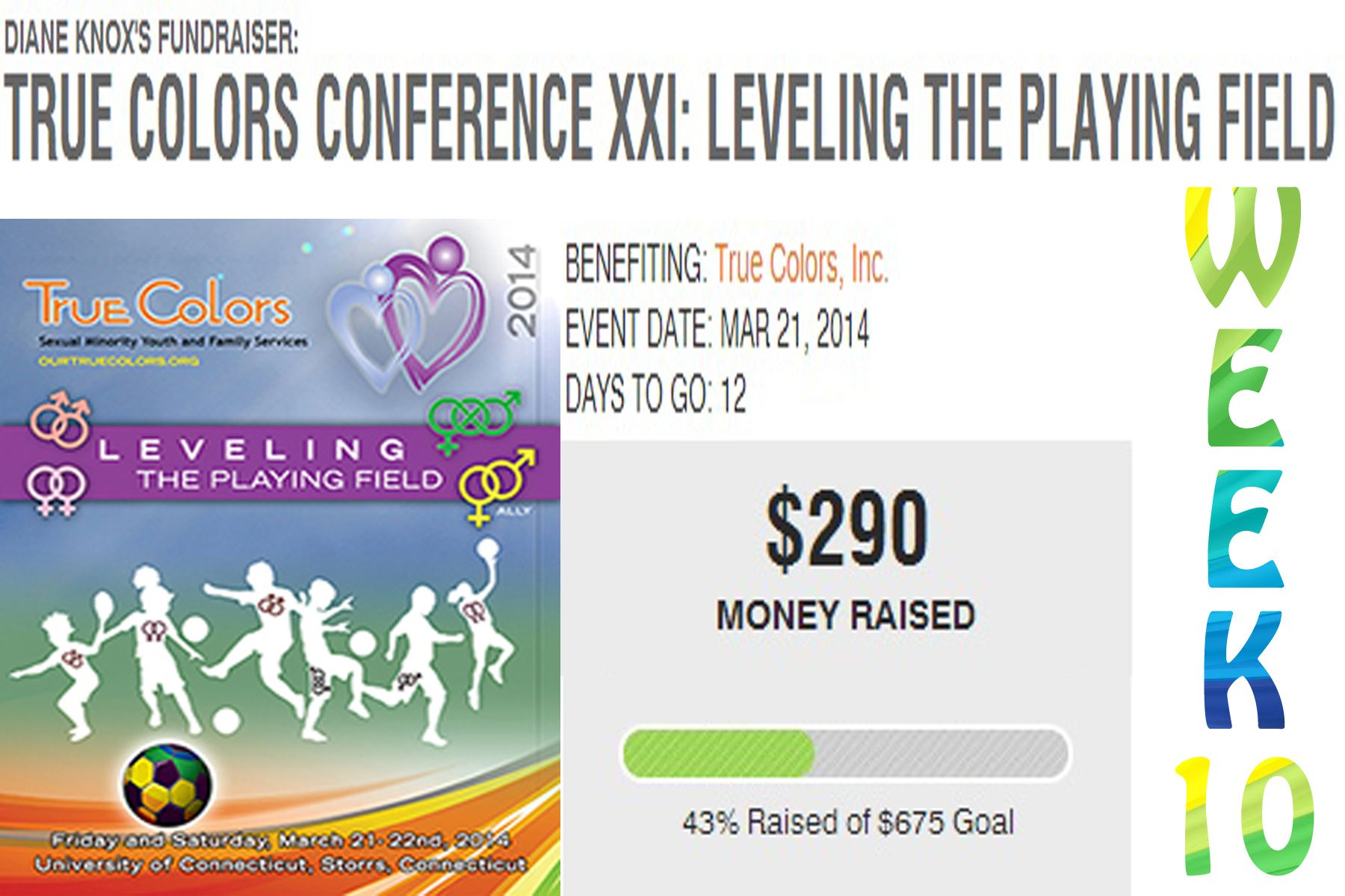 f YOU would like to help sponsor youth registration to this year's conference, click here: http://www.crowdrise.com/TCXXILevelingthePlayingField/fundraiser/dianeknox