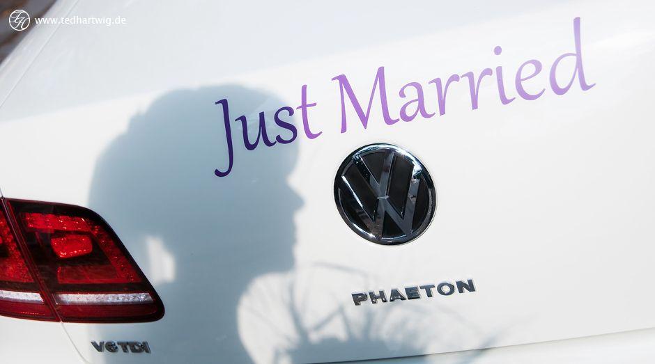 Ein Schnappschuss der besonderen Art. Die #Braut nur als #Silhouette.