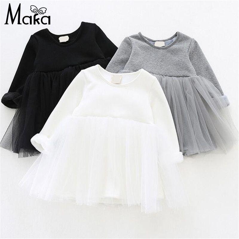 39c17acff Niñas bebés Vestido de Lana Caliente Vestido tutu Vestidos Para ...