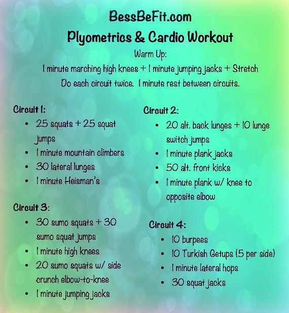 Plyometrics And Cardio Wrokout Plyometric Workout Plyo Workouts Cardio Workout