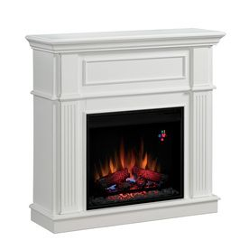 Shop Chimney Free 41-in White Electric Fireplace at Lowes.com ...