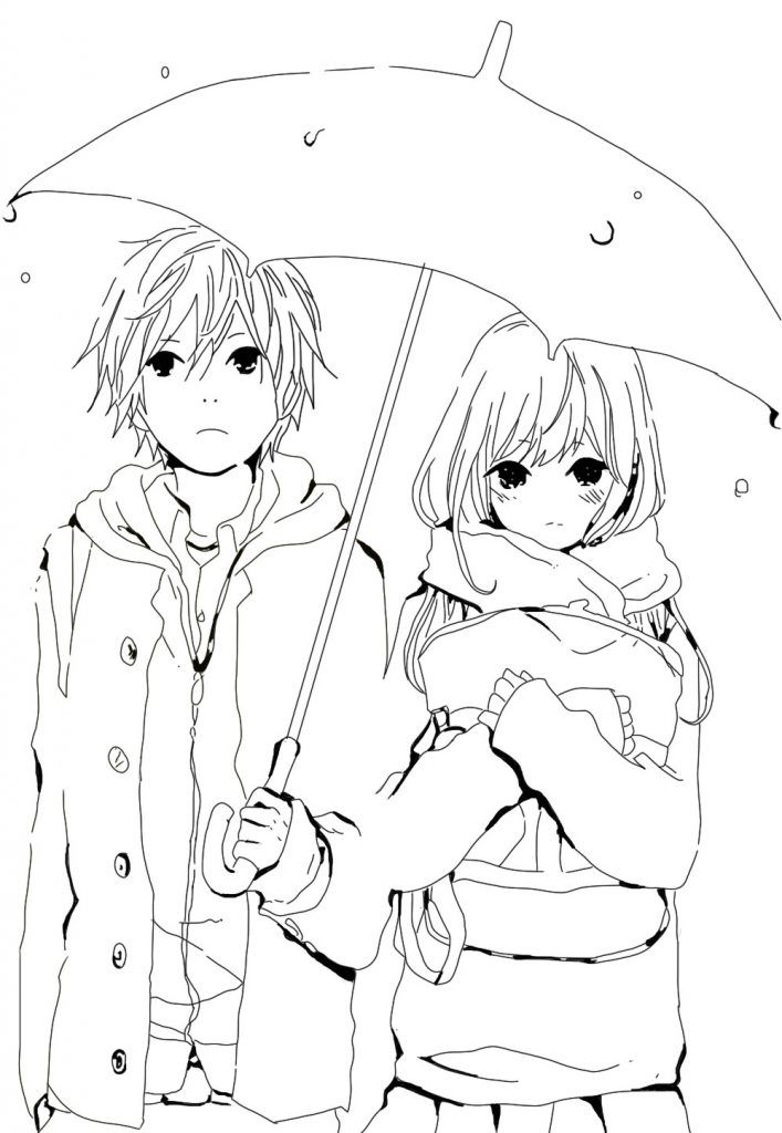 Anime Coloring Pages Manga coloring book, Cute coloring