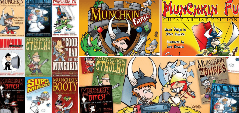 Lots of versions of Munchkin Fun card games, Player card
