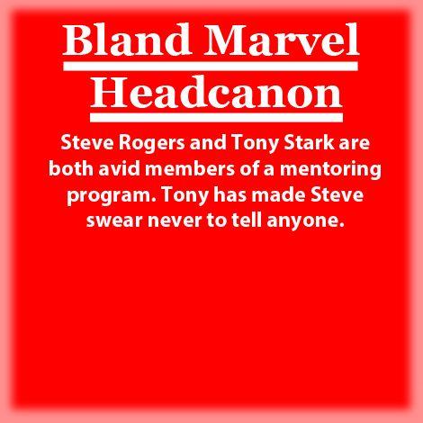 Bland Marvel Headcanons New Steve Rogers And Tony Stark Are Both Avid Members Marvel Headcanon Bland Marvel Headcanon Marvel Jokes