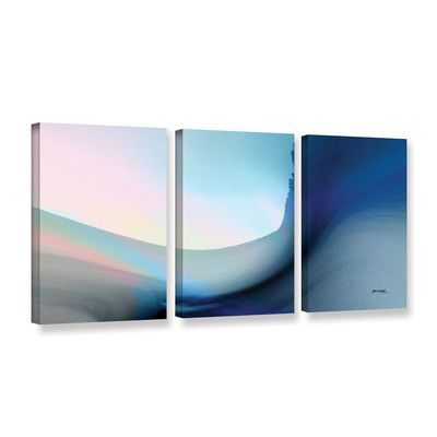 Wade Logan Ocean Vibes 1 3 Piece Painting Print on Wrapped Canvas Set Size: