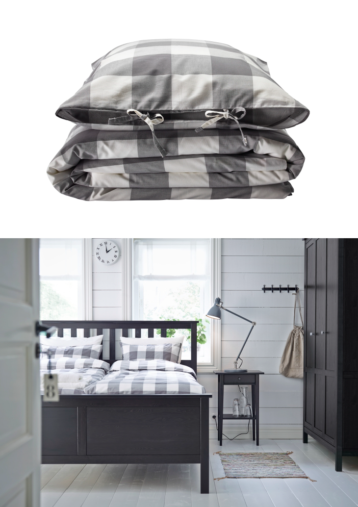 Dress your bed in classic and fashionable buffalo check with the EMMIE RUTA duvet set.