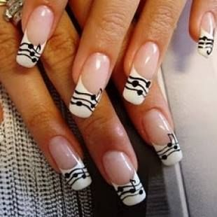 20 ingenious nail art designs french nails music nails and manicure 20 ingenious nail art designs prinsesfo Images