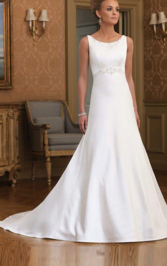 Princess Wedding Guest Dresses, Satin Empire Dresses, Empire Jewel ...