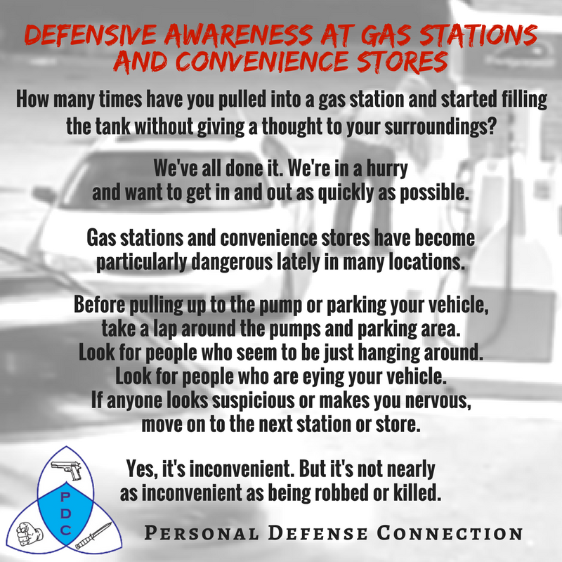 Be aware and cautious at Gas Stations and Convenience