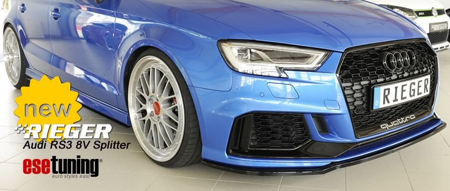 Rieger Front Splitter for Audi RS3 8V | New Items at ESE Tuning