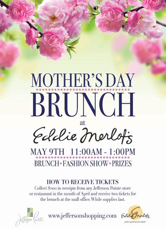 MotherS Day Brunch Poster Flyer Template  Mothers Day