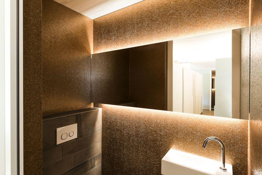 Einfamilienhaus# Koblach# modern Holzbau# L Form moderne - badezimmer l form