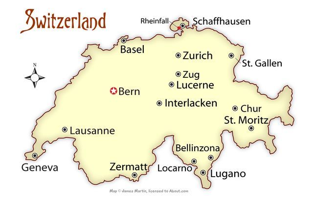 Map Of Switzerland Cities Where to Visit in Switzerland in 2019 | Switzerland | Switzerland