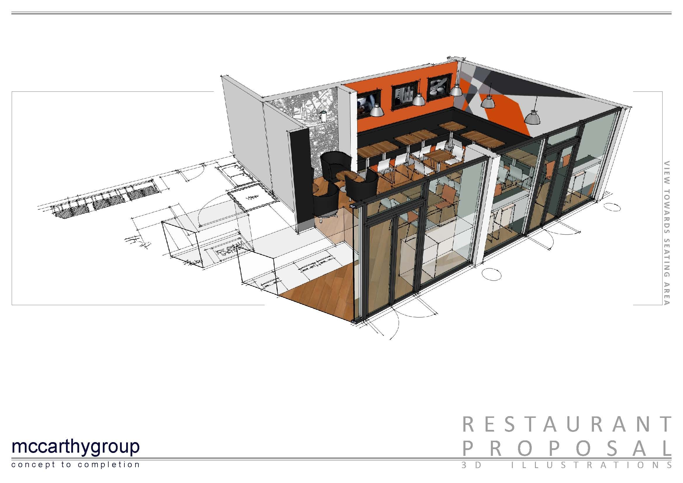 Pizza Joint 3d Illustration Sketchup With Images Interior