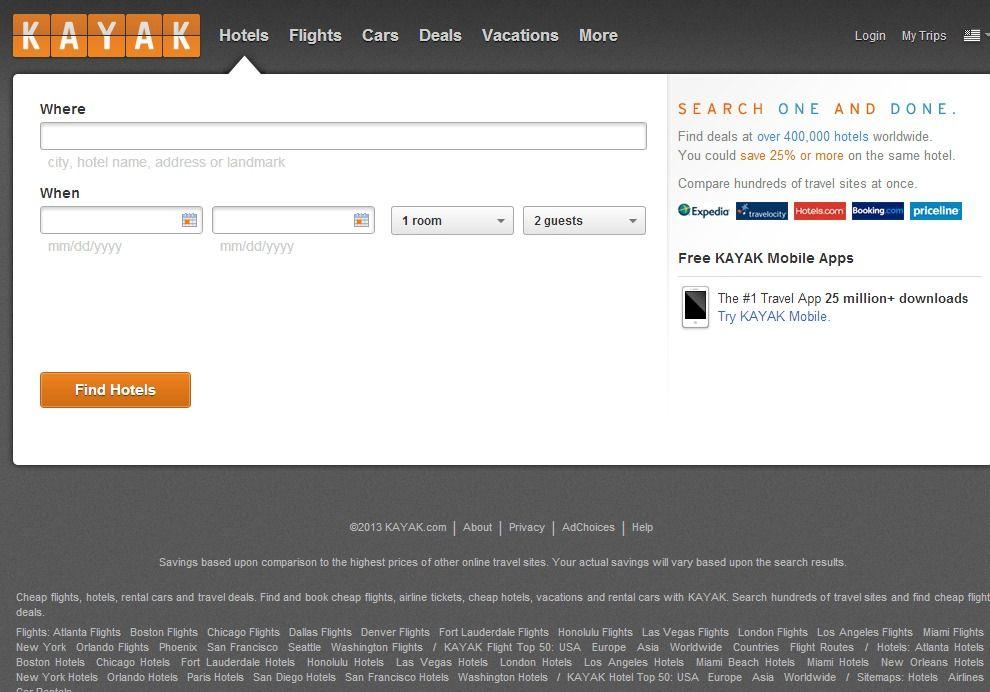 Kayak Com Travel Sites City Hotel Kayaking