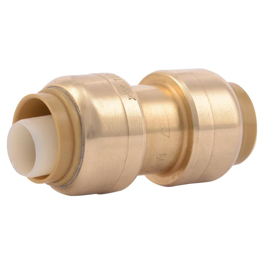 Sharkbite 1 2 In Brass Push To Connect Coupling Fitting 32 Pack