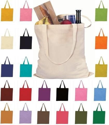 Set of 50 - Canvas Tote Bags - High Quality Blank Totes TOB293  7b213840a22d5