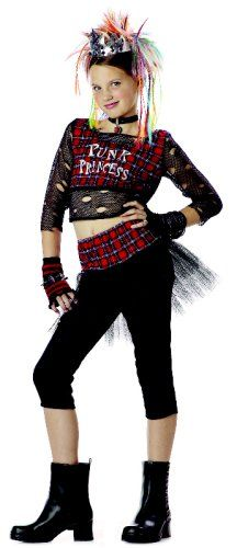 c21b110888 Child Punk Rock Girl Halloween Costume | Halloween Costumes for Kids