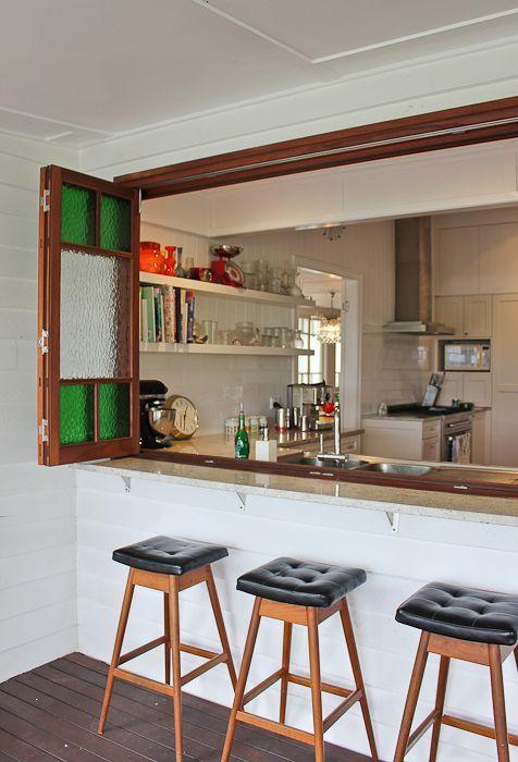 Queenslander house renovation Brisbane Timber bi folding window