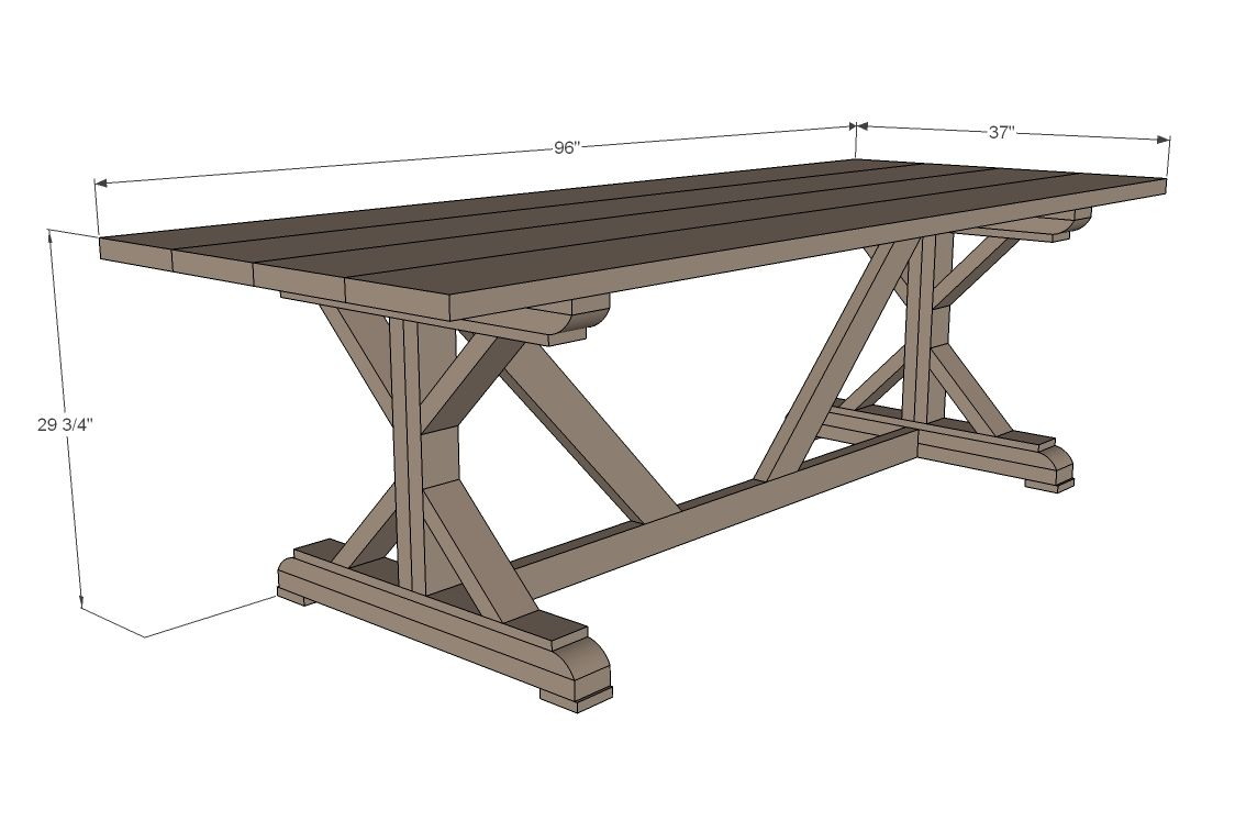 Fancy x farmhouse table farmhouse table plans diy