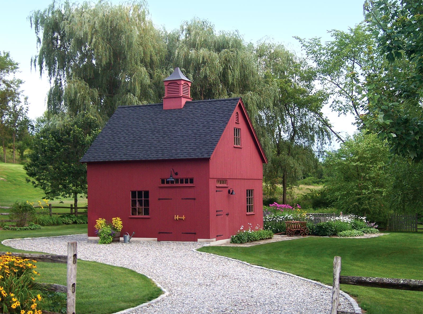 Post and beam carriage house plans - New England Style Barns Post Beam Garden Sheds Country Style Carriage Houses