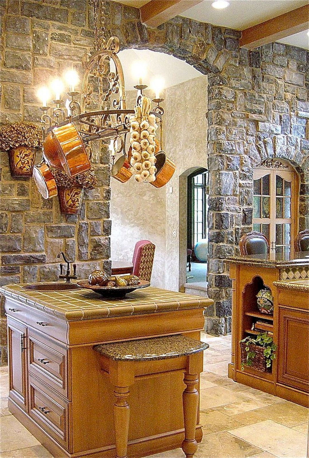 Astounding 25+ Extraordinary Rock Wall Design Ideas For ... on Traditional Kitchen Wall Decor  id=64566