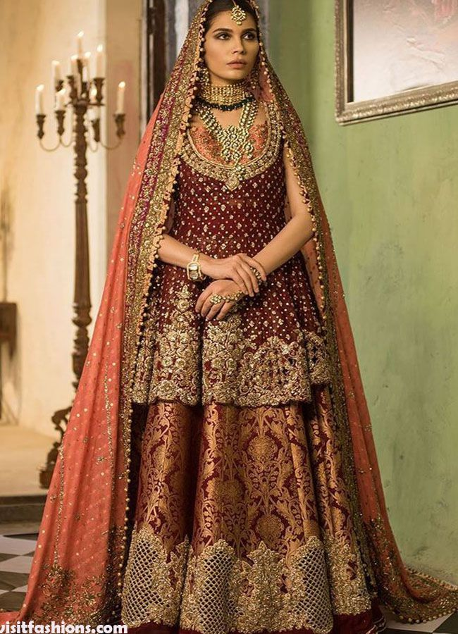 Latest Bridal Dresses In Pakistan For Wedding In 2020 in