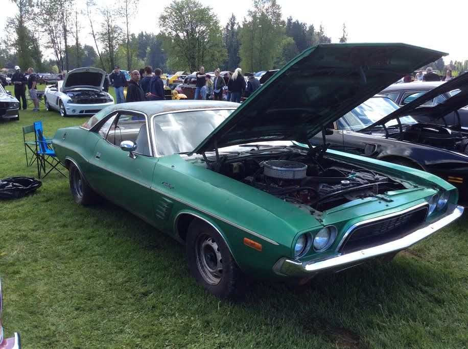 Poppy High School Car Show In Langley BC Canada May Barn Find Challenger
