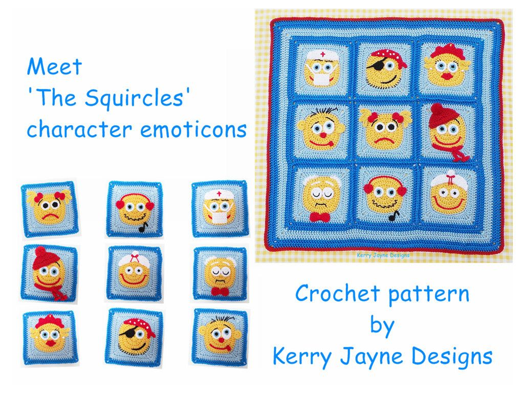 Granny square pattern by kjd emoticons character blanket crochet granny square pattern by kjd emoticons character blanket crochet blanket pattern kids crochet granny square bankloansurffo Image collections