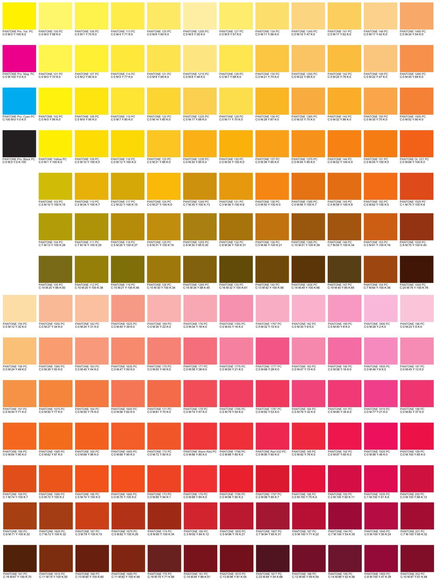 CMYK color code charts Love my job Pinterest