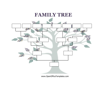 Decorated with a cute, craft tree, this printable family tree has ...
