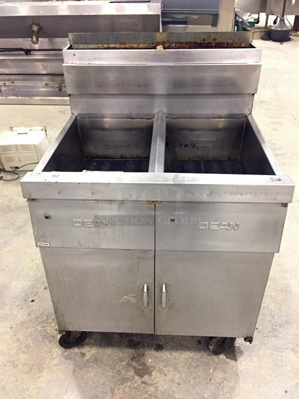 Exceptionnel Dean SCFD260GNTS Double Fryer, Natural Gas, Stainless Steel W/ Built In  Filteration System