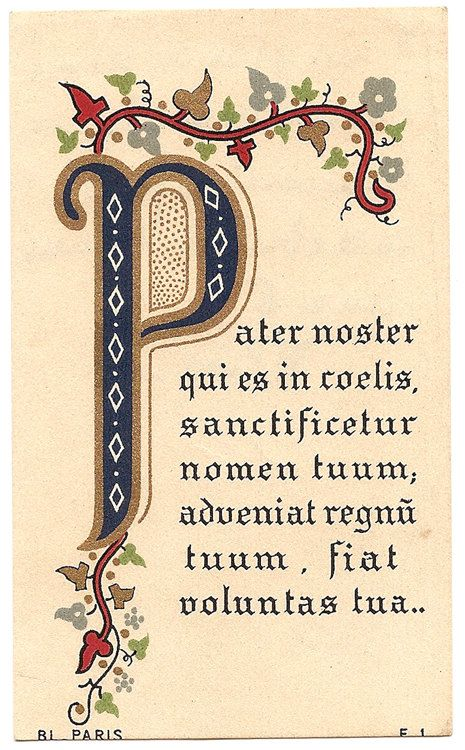 pater noster our antique by 12starsvintage on etsy prayer cards