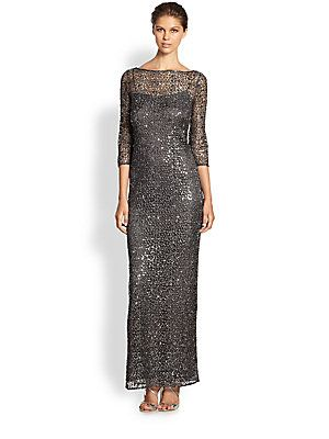 f6a224ee1d0 Kay Unger Metallic Lace Dress (mother of the bride saksfifthavenue.com)