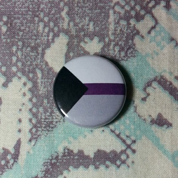 Demisexual Pride Flag Pinback Button or Magnet by jaxxisbuttons
