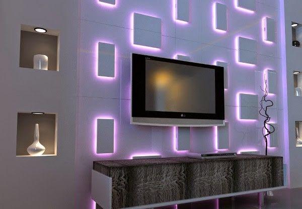 Tv Wall Designs Tv Wall Design Wall Lamp Design Wall Art Lighting