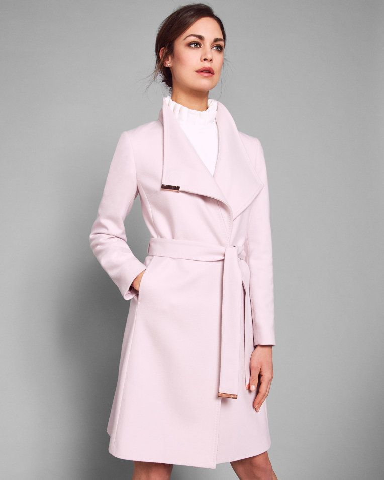 e58744dc5 Long wrap coat - Light Pink