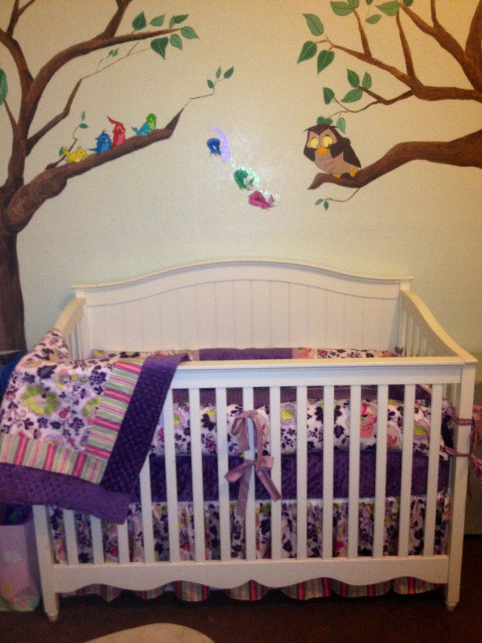 Sleeping beauty nursery mural by rachel osborn https for Sleeping room decoration