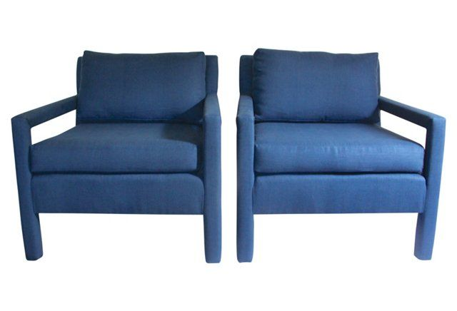 Parsons Chairs Attr. to M. Baughman, S/2